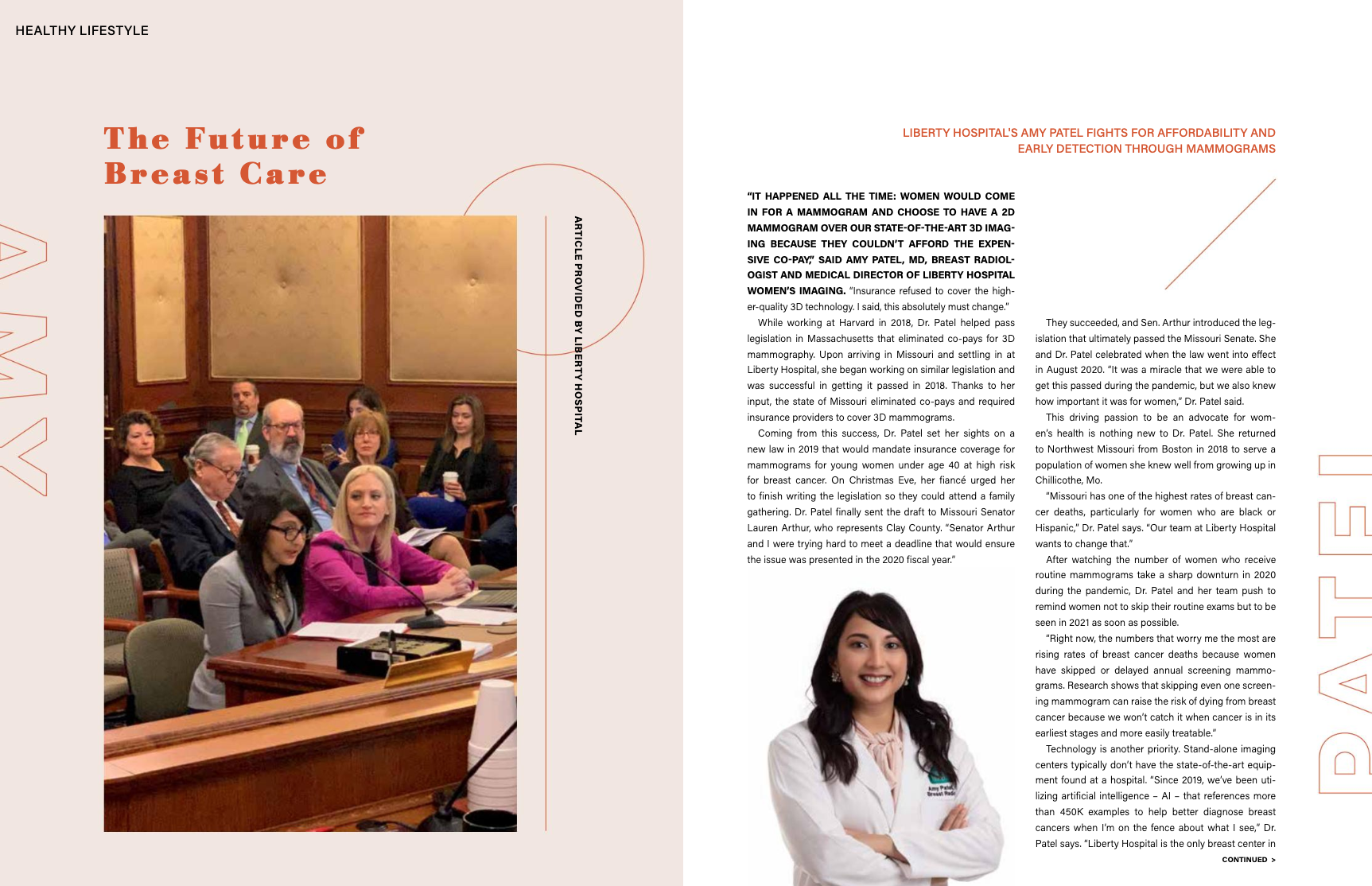 Dr. Amy Patel featured in Northland Lifestyle's May Issue